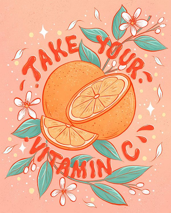 Oranges Lettering and Illustration #wallcollage