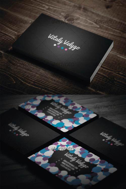 GraphicRiver Bubble Style Business Card | Bubble style ...