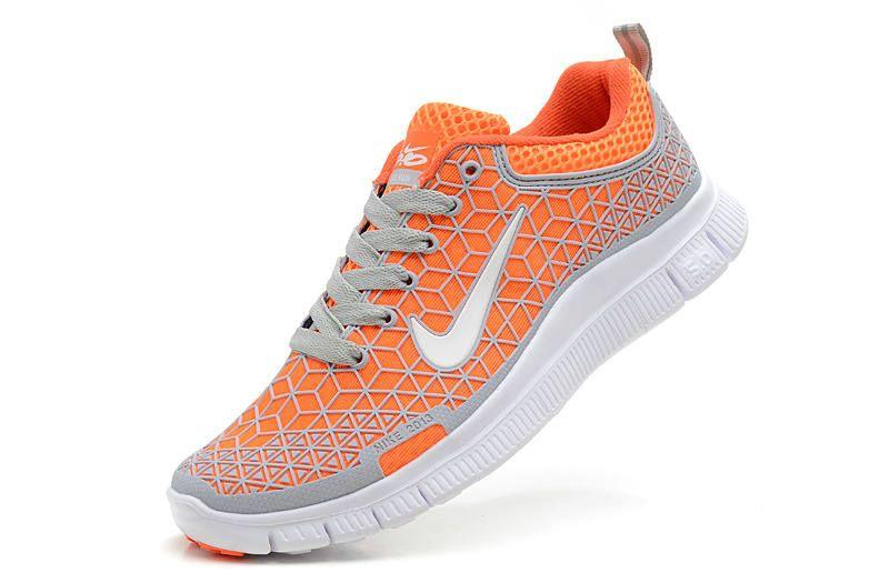 nike free 5.0 womens running shoe gray/orange/white