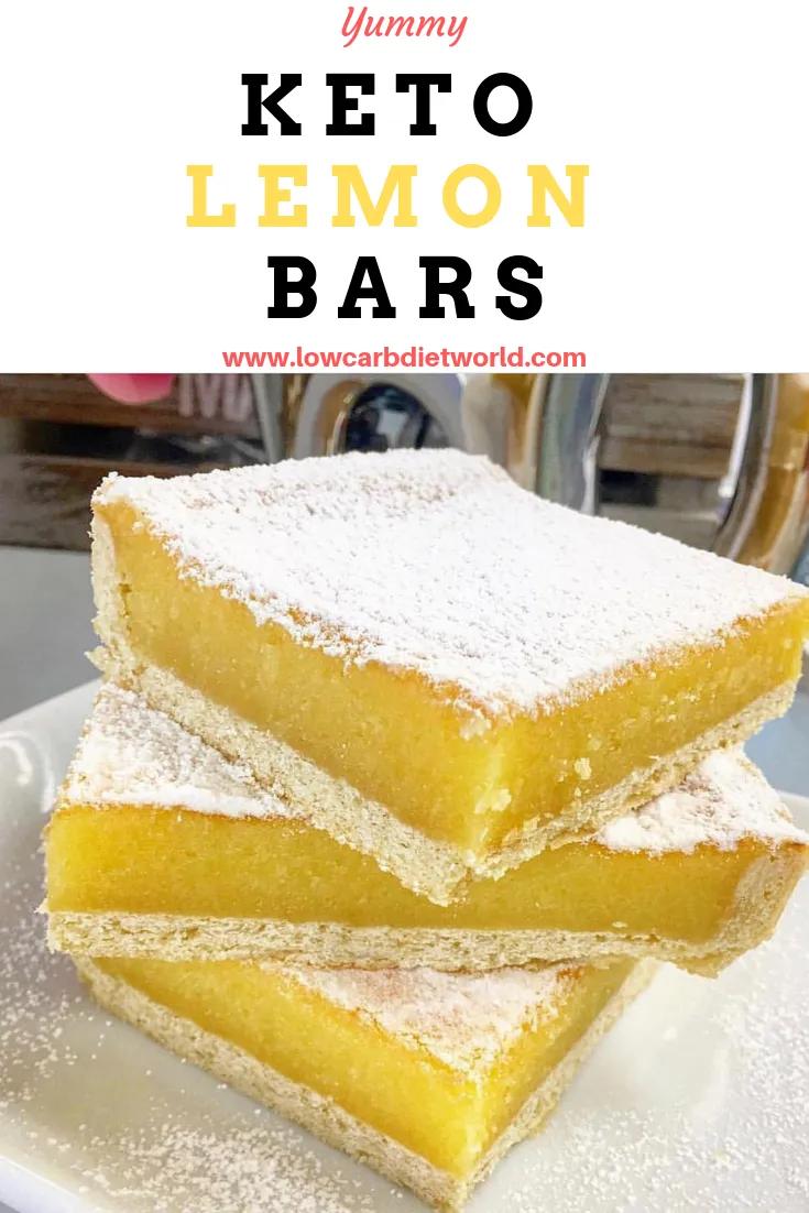 Keto Lemon Bars - LowCarbDietWorld