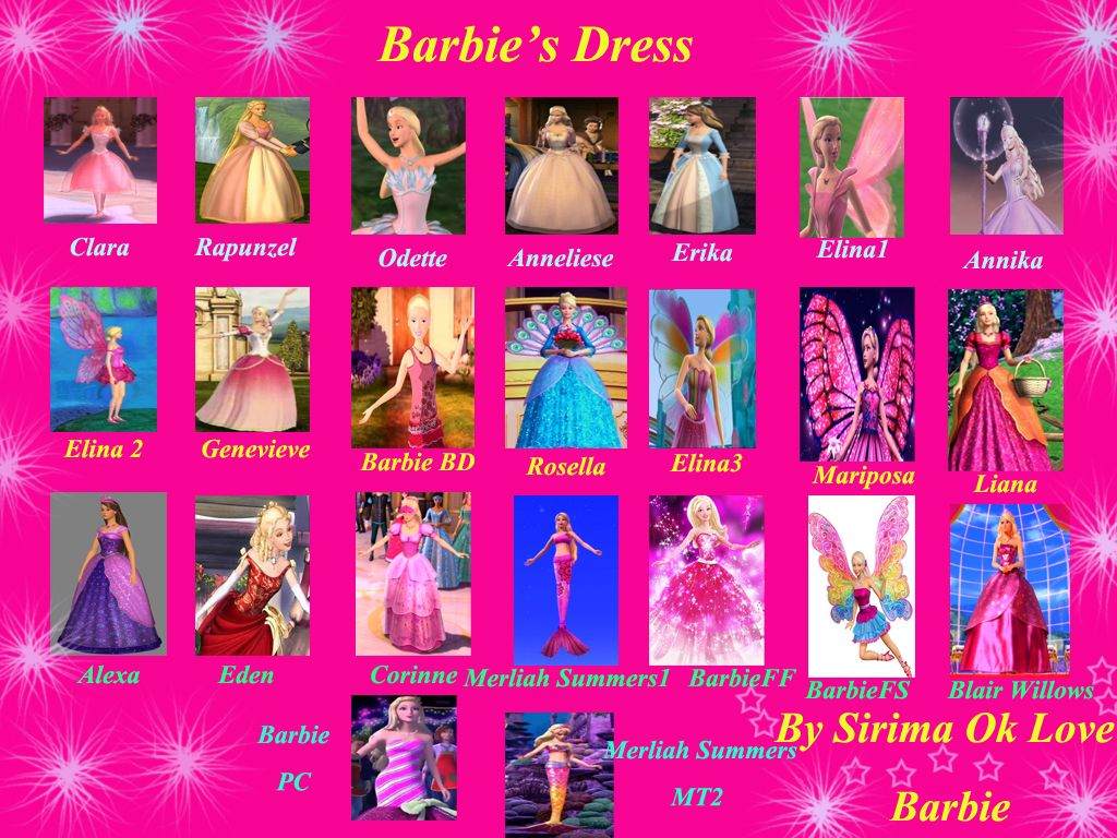 all barbie clothes