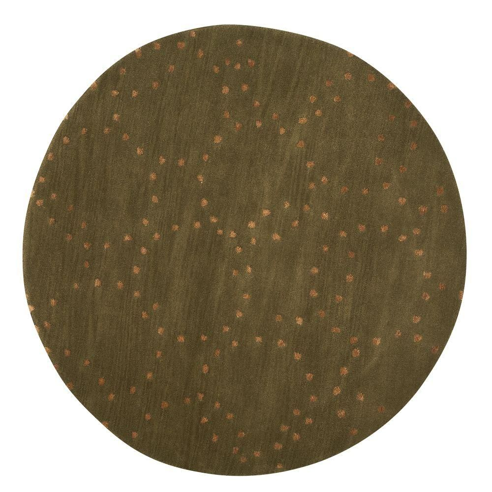 Halo Green 5 Ft In Round Area Rug