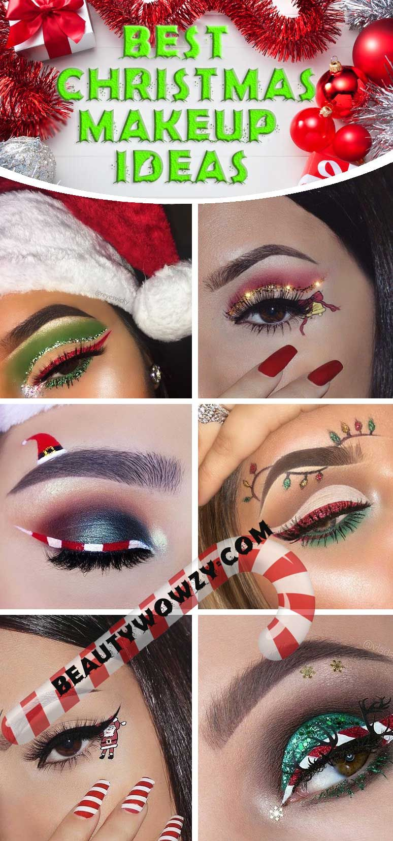 Easy Christmas Make Up for Brown Eyes