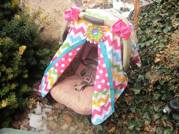 Carseat Canopy Free Shipping Code Today By SooShabbyChic On Etsy 3899