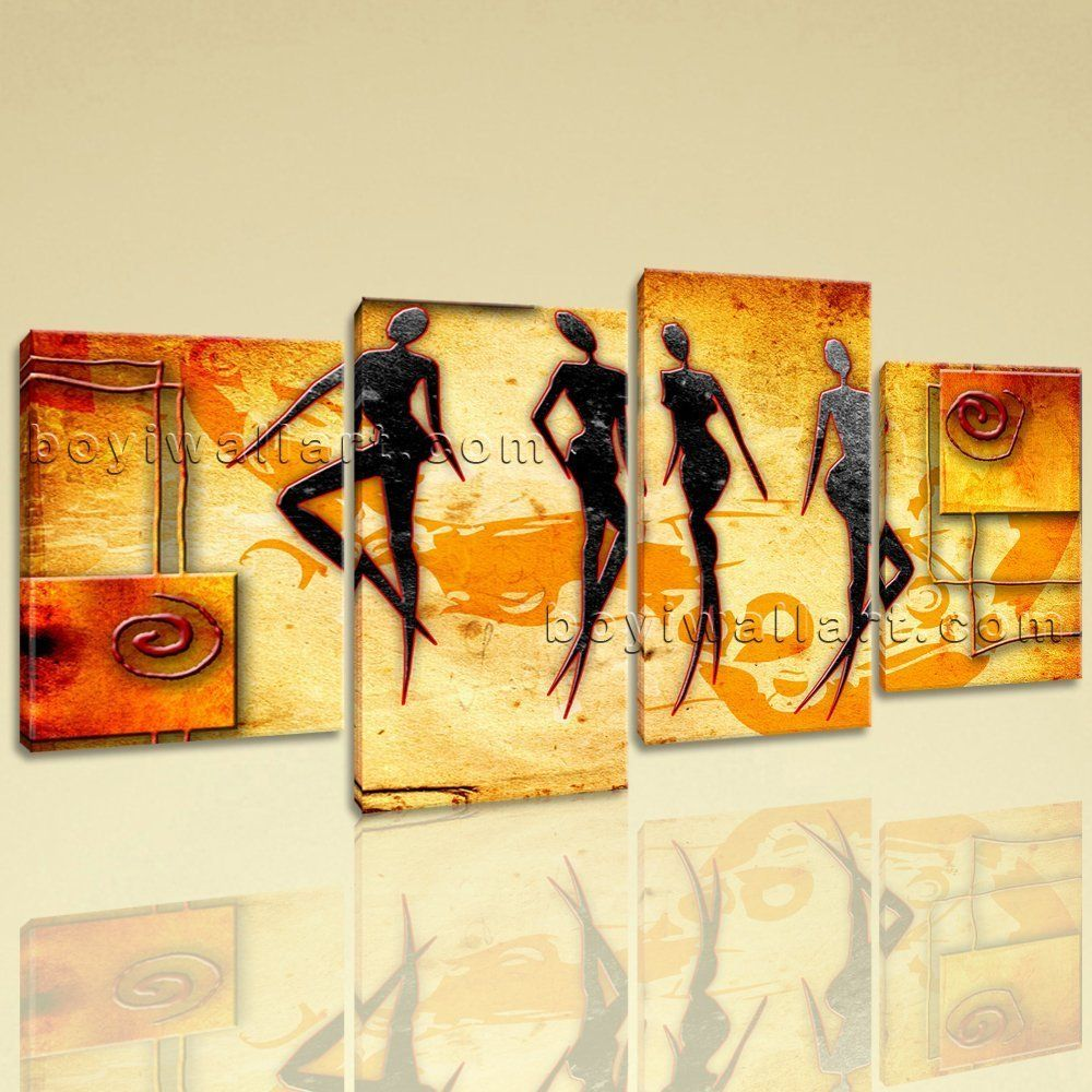 Large African Retro Figure Contemporary Canvas Wall Art Home Decor ...