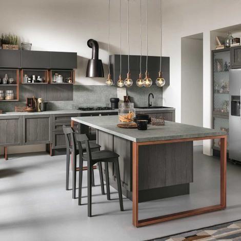 cucine Talea Grigio scuro Isola | * Kitchens * | Pinterest | Italy ...