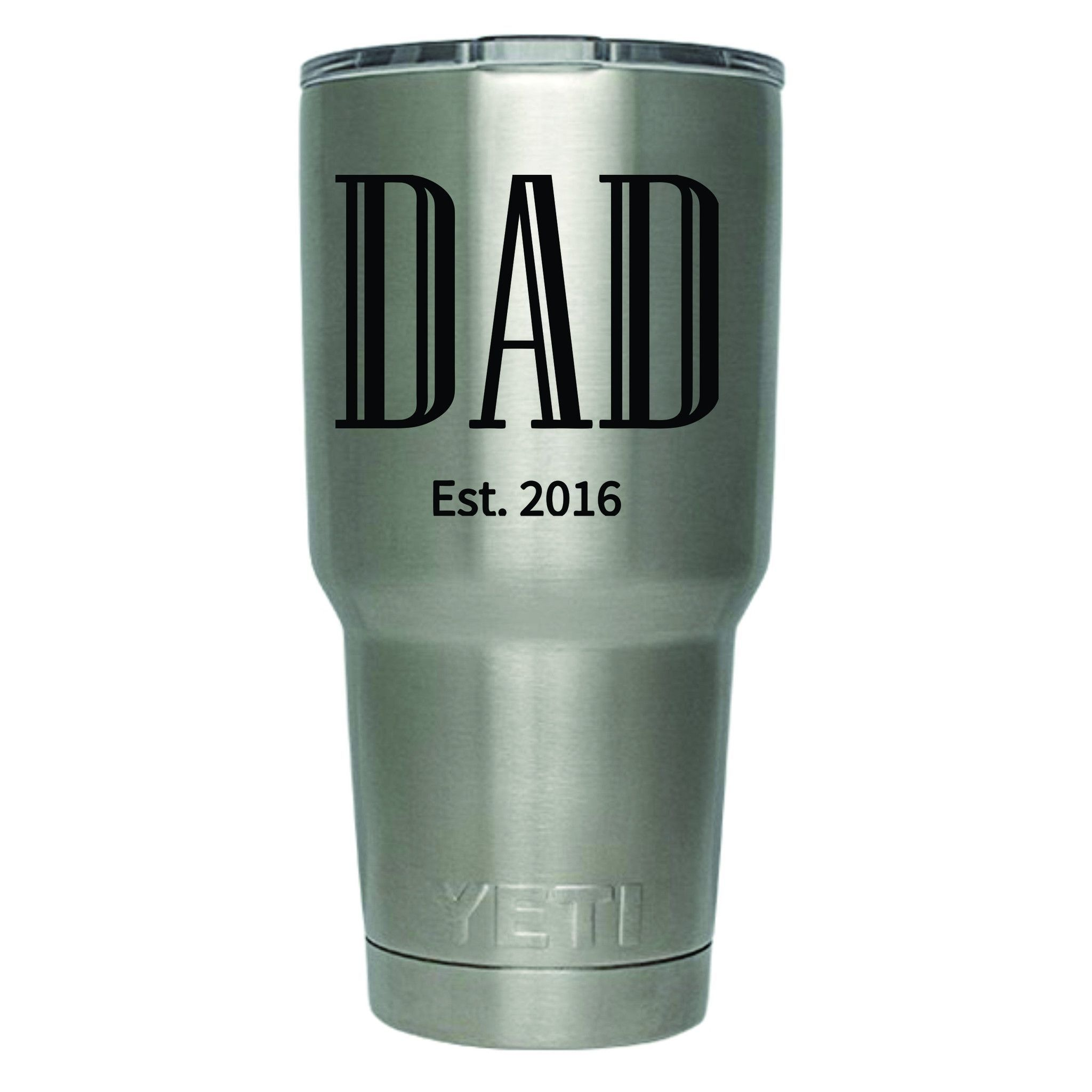 Personalized Yeti Cup Industrial Vinyl Lettering Can Be Ordered - Vinyl cup decals