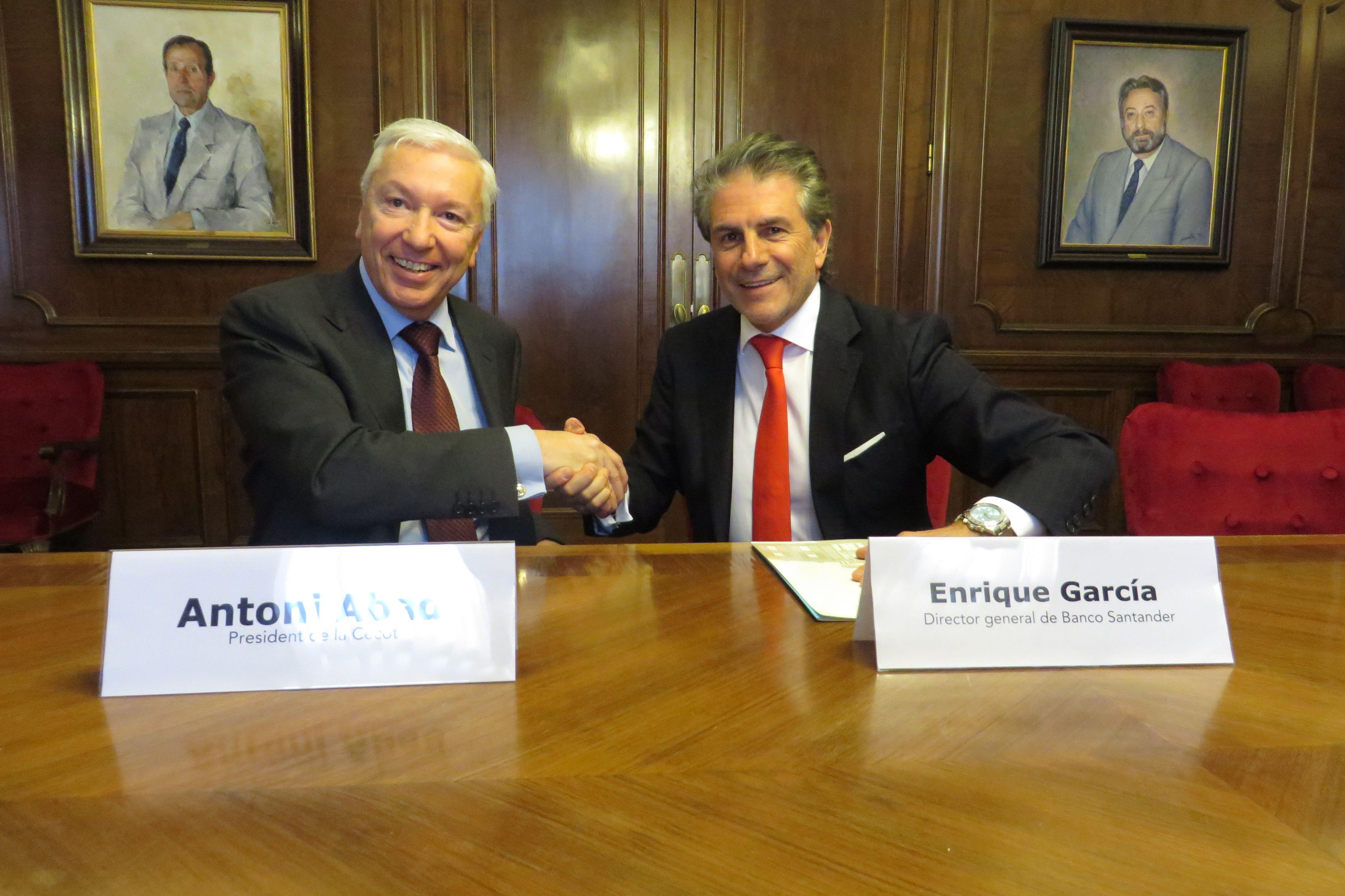 Santander será asesor financiero y fiscal de las empresas asociadas a la patronal Cecot http://bsan.es/1Fb3zZw (11/03/15)