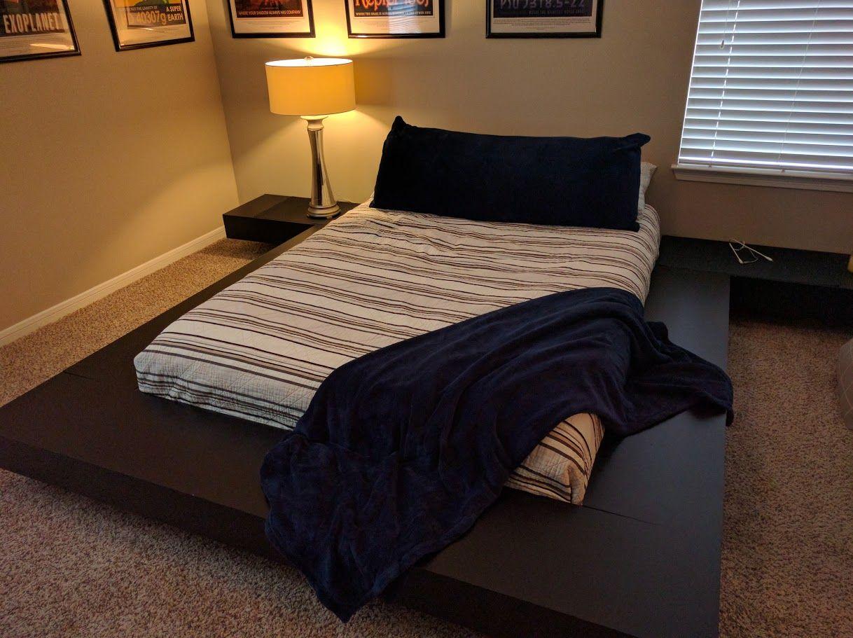 DIY Platform Bed Imgur … Floating platform bed, Diy