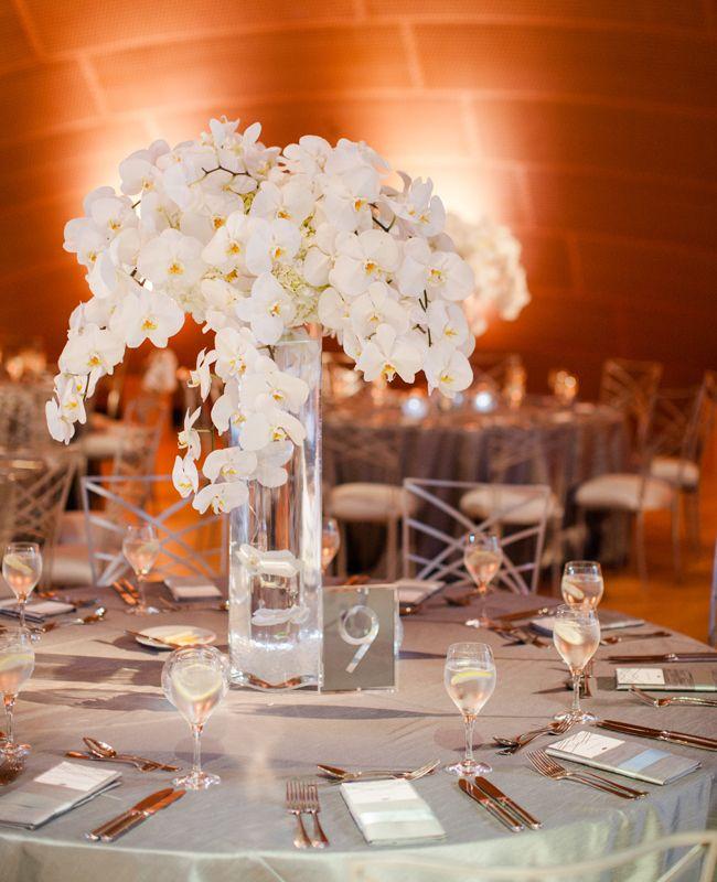 Orchid Flower Arrangements For Weddings: Wedding Table Decorations, Simple Wedding
