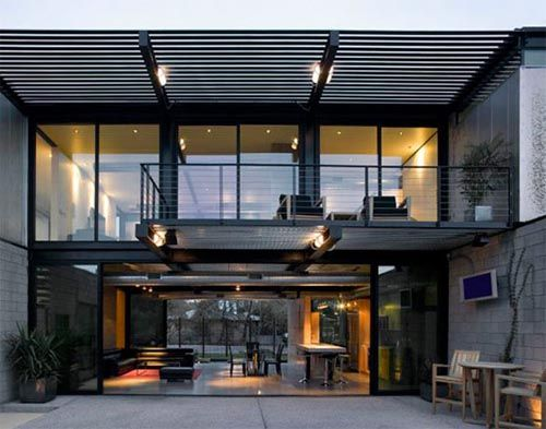 Industrial Balcony Pergola Luxury House Designs Industrial