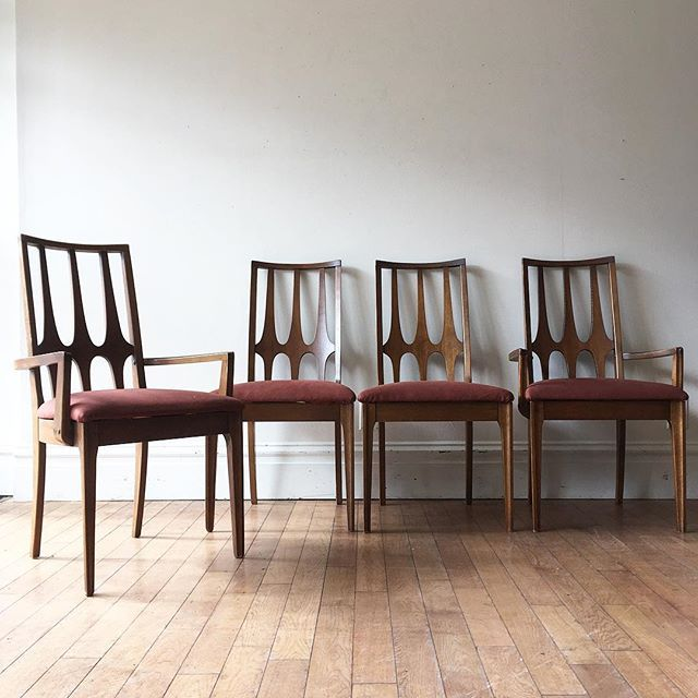 broyhill brasilia dining chairs mid century modern furniture vintage interior design