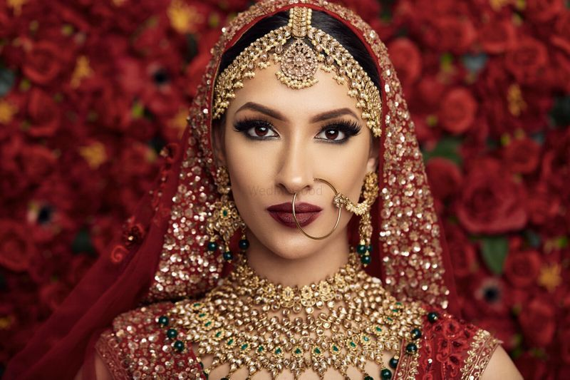 Photo Of A Bride In Red Lehenga And Heavy Jewellery In 2020 Bridal Skin Care Real Brides Top Skin Care Products