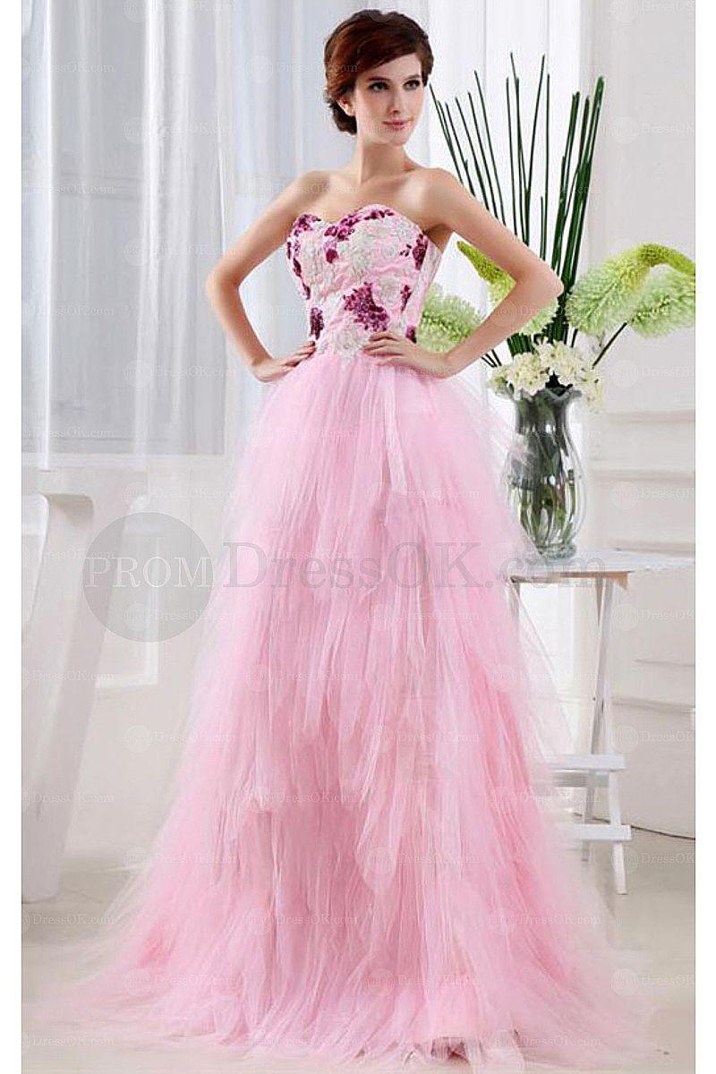 Luxurious pink floorlength sleeveless natural satin prom dresses