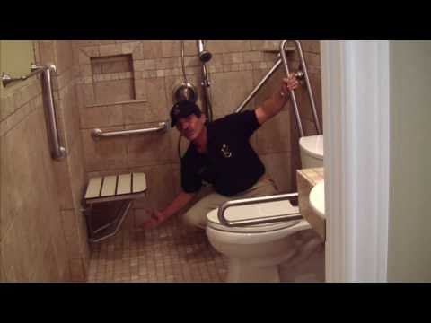 Bathroom Remodeling Videos david, see the location of shower cubby beside bench. handicap