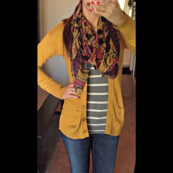 🎉Host pick 🎉Mustard yellow boyfriend cardigan | Boyfriend ...