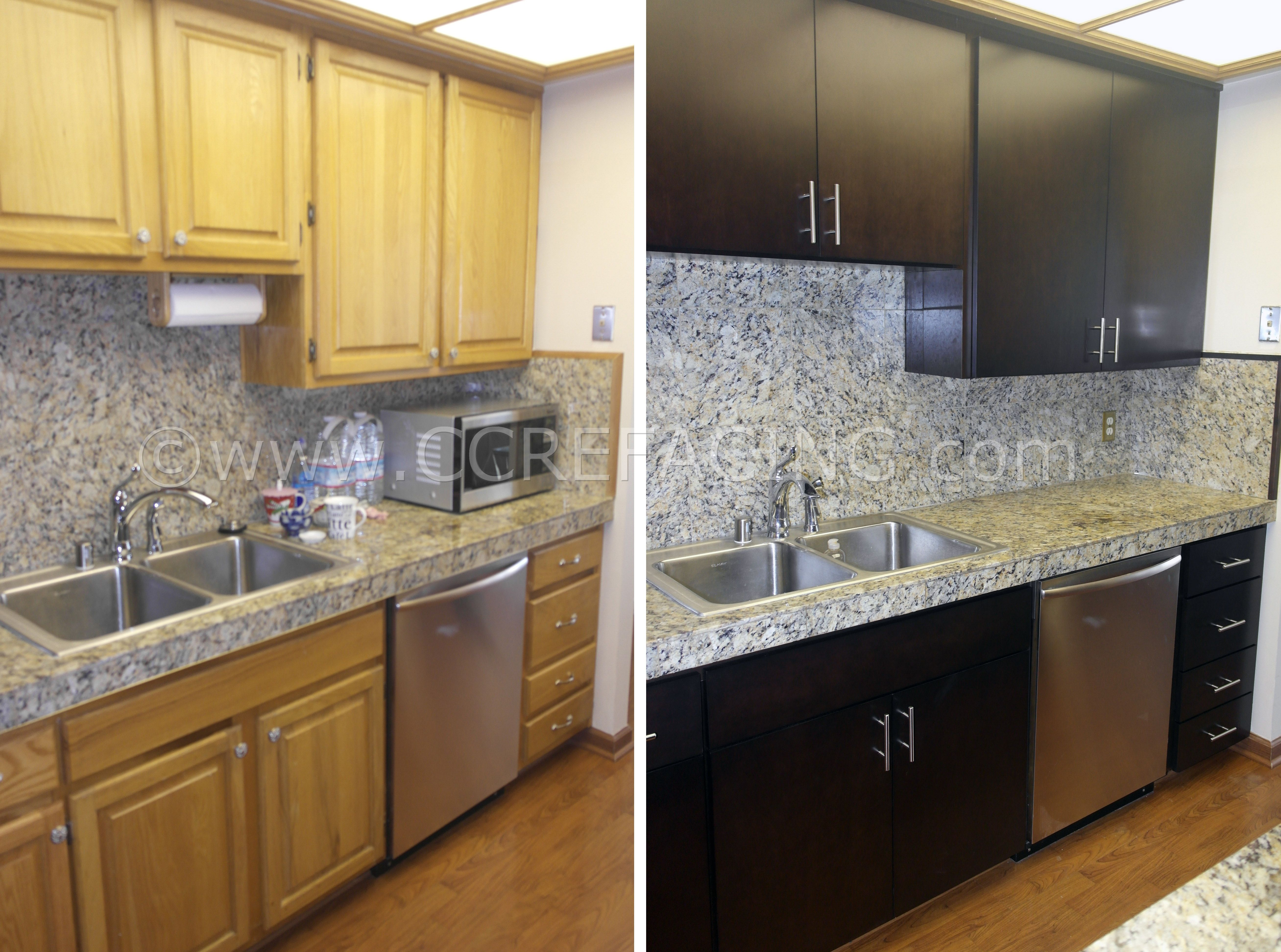Wanut Creek Cabinet Reface Refacing With Dark Maple Slab Doors Cabinet Refacing Cabinet Solid Wood Cabinets