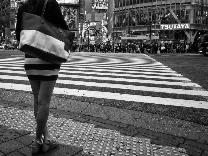 Horizontal Line Art : Shibuya horizontal line photography street