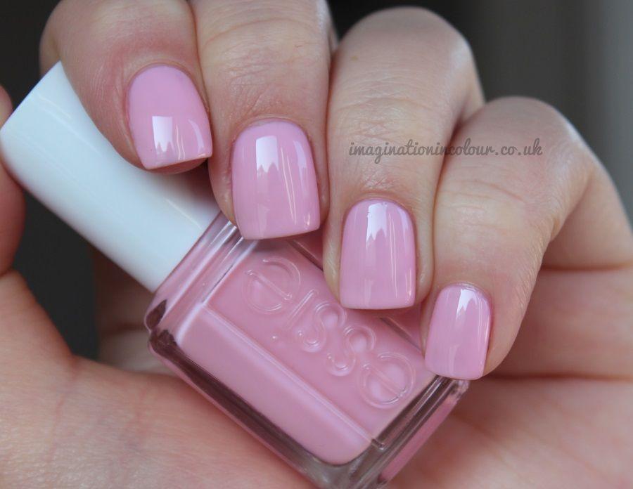Essie \'Muchi, Muchi\' ~ soft pink jelly ~ opaque in 3 coats ~ swatch ...