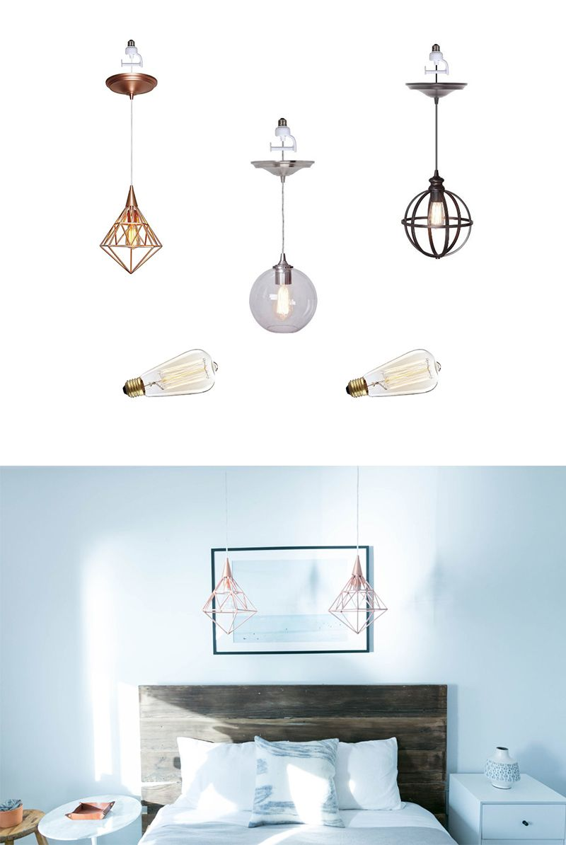 Recessed Light Upgrade Screw In Pendant 2018 Mr Kate How To Install A Fixture From An Outlet These Cute Decor Solutions Into The Lightbulb And Look Like Newly Installed Fixtures