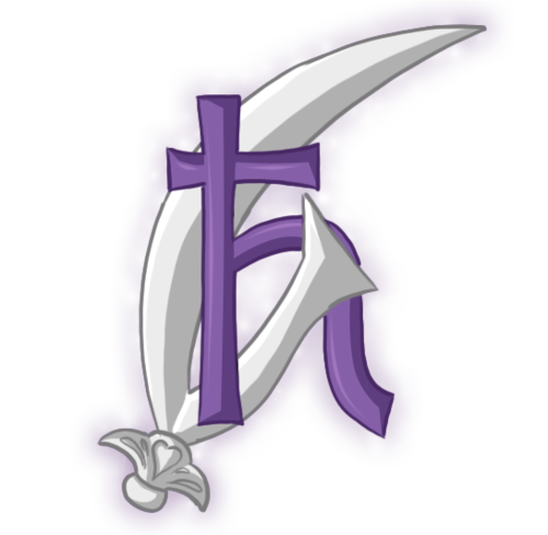 Sailor Saturn Symbol Glaive Blade Representing The Second Half Of