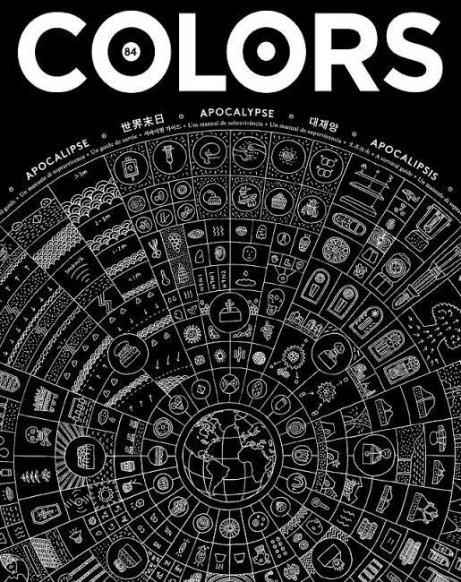 A sua introdução no Brasil a partir deste título, ora uma nova capa de revista Colors, um cartaz que lembra o calendário Maya.