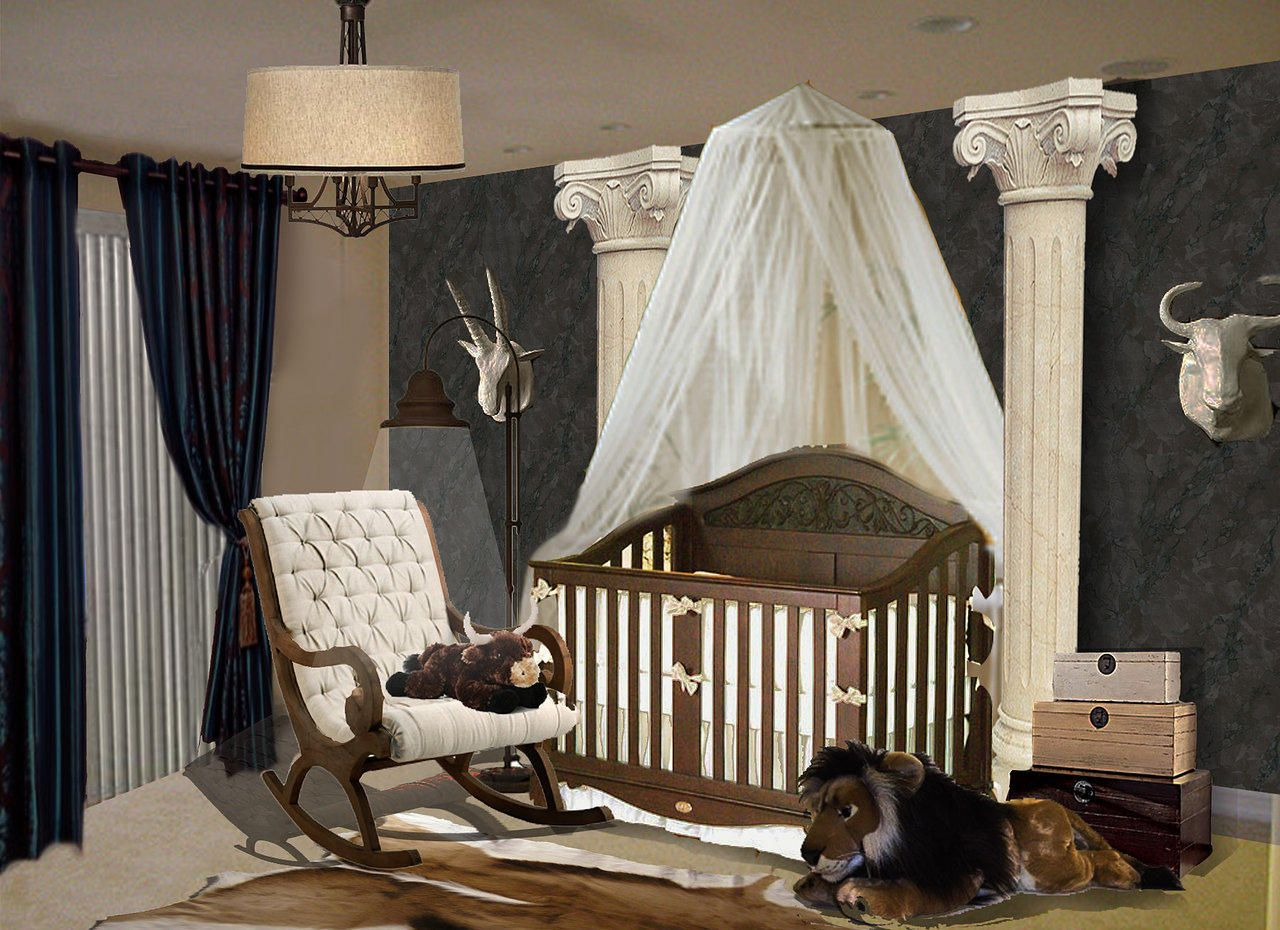 greek themed baby bedroom - Google Search (With images