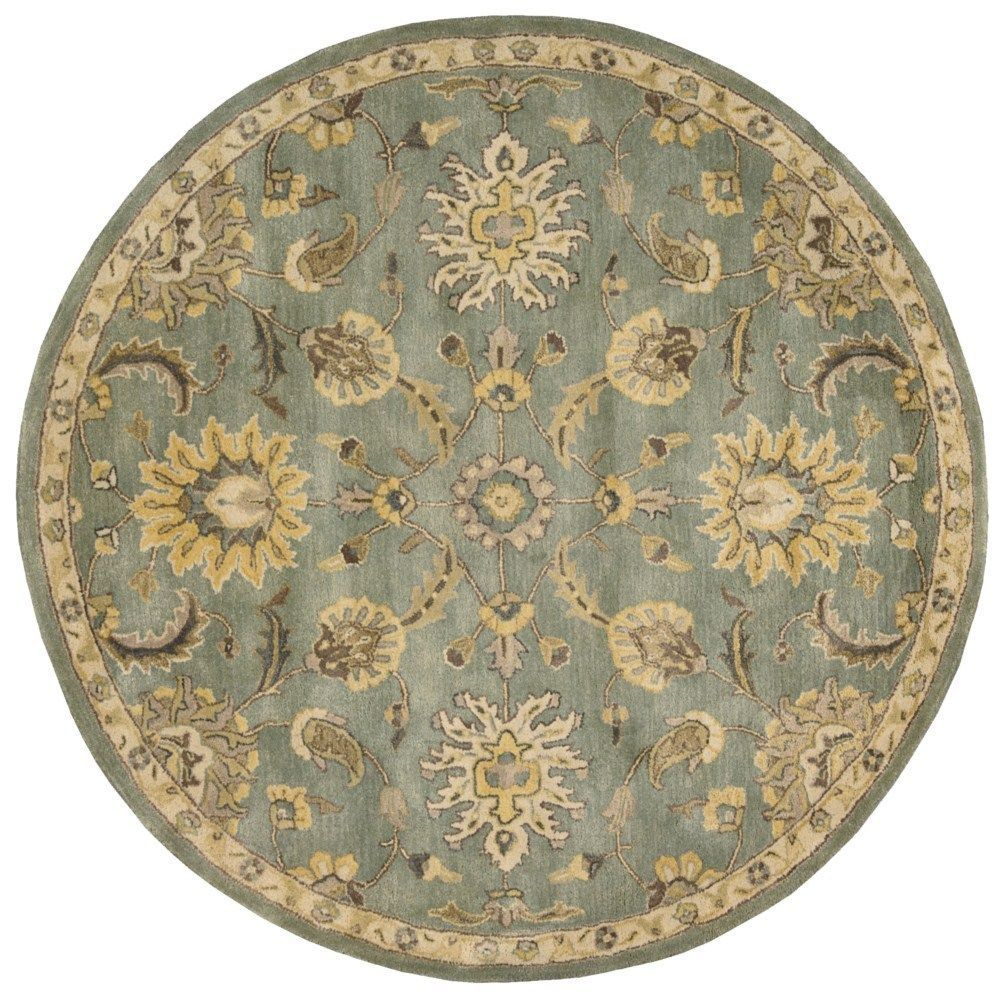 Nourison Jaipur Light Blue Rug (6' x 6') (6' x 6'), Size 6' x 6' (Wool, Oriental)