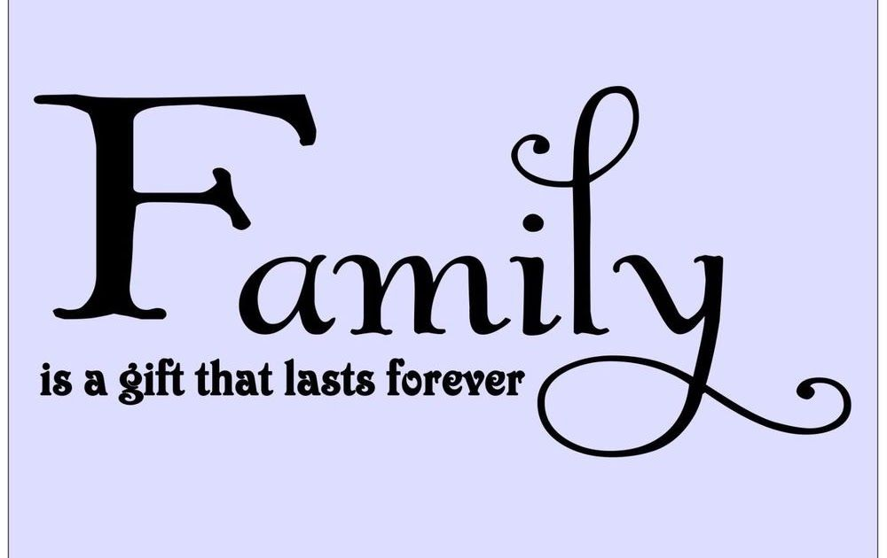Select Quote Fair Family Is A Gift That Lasts Forever  Vinyl Wall Quote Decal
