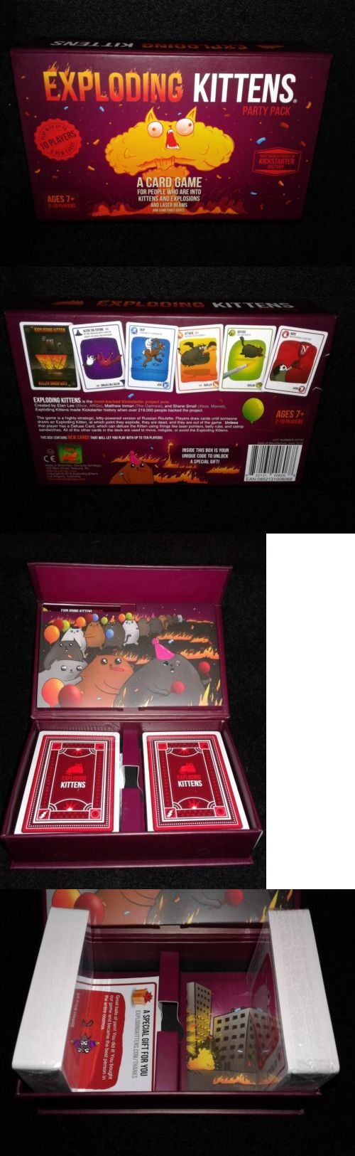 Games 233 Exploding Kittens Party Pack Game Card Game Buy It