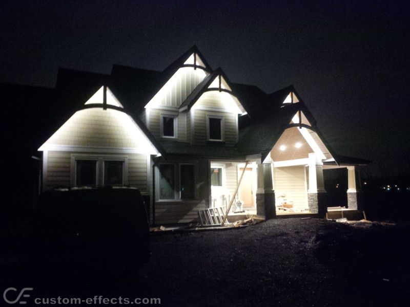 Custom Effects Led Solutions Led Soffit Lighting Exterior House Lights Exterior Lighting Led Light Design