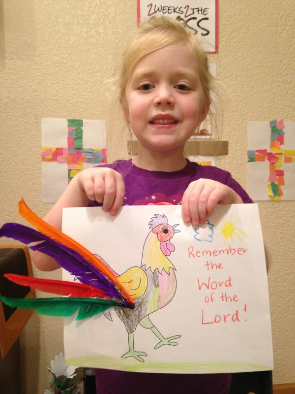 Rooster craft for the story of Peter denying Jesus ...