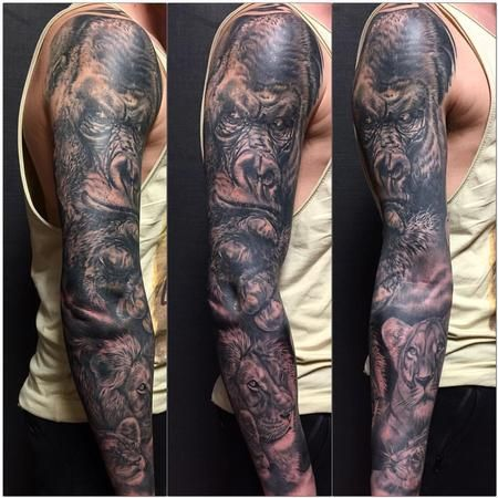 Tattoos Jungle Themed Full Sleeve 125096 Sleeve Tattoos Jungle Tattoo Japanese Sleeve Tattoos
