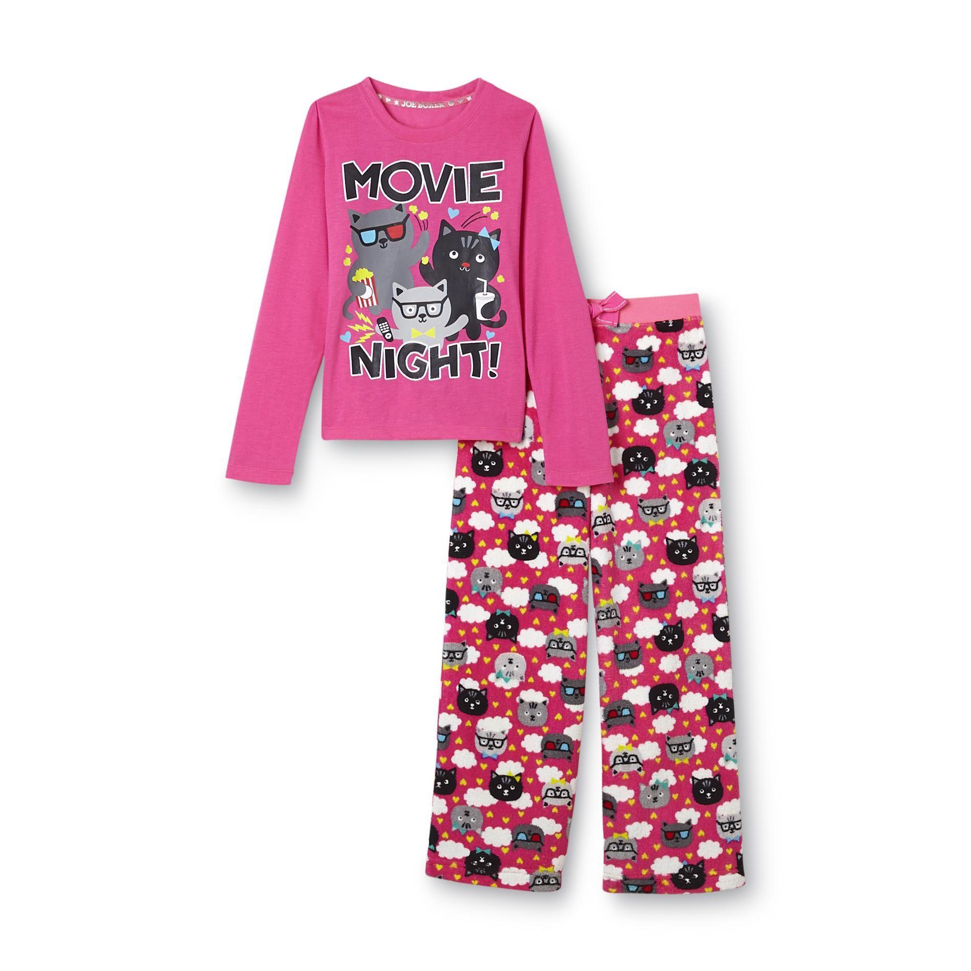 Joe Boxer- -Girl\'s Graphic T-Shirt & Pajama Pants - Movie Night ...