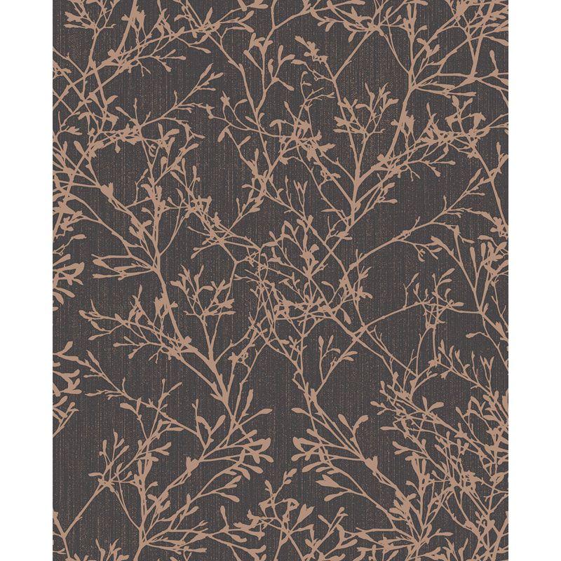 Fine Decor Tranquility Tree Wallpaper. Colour Copper