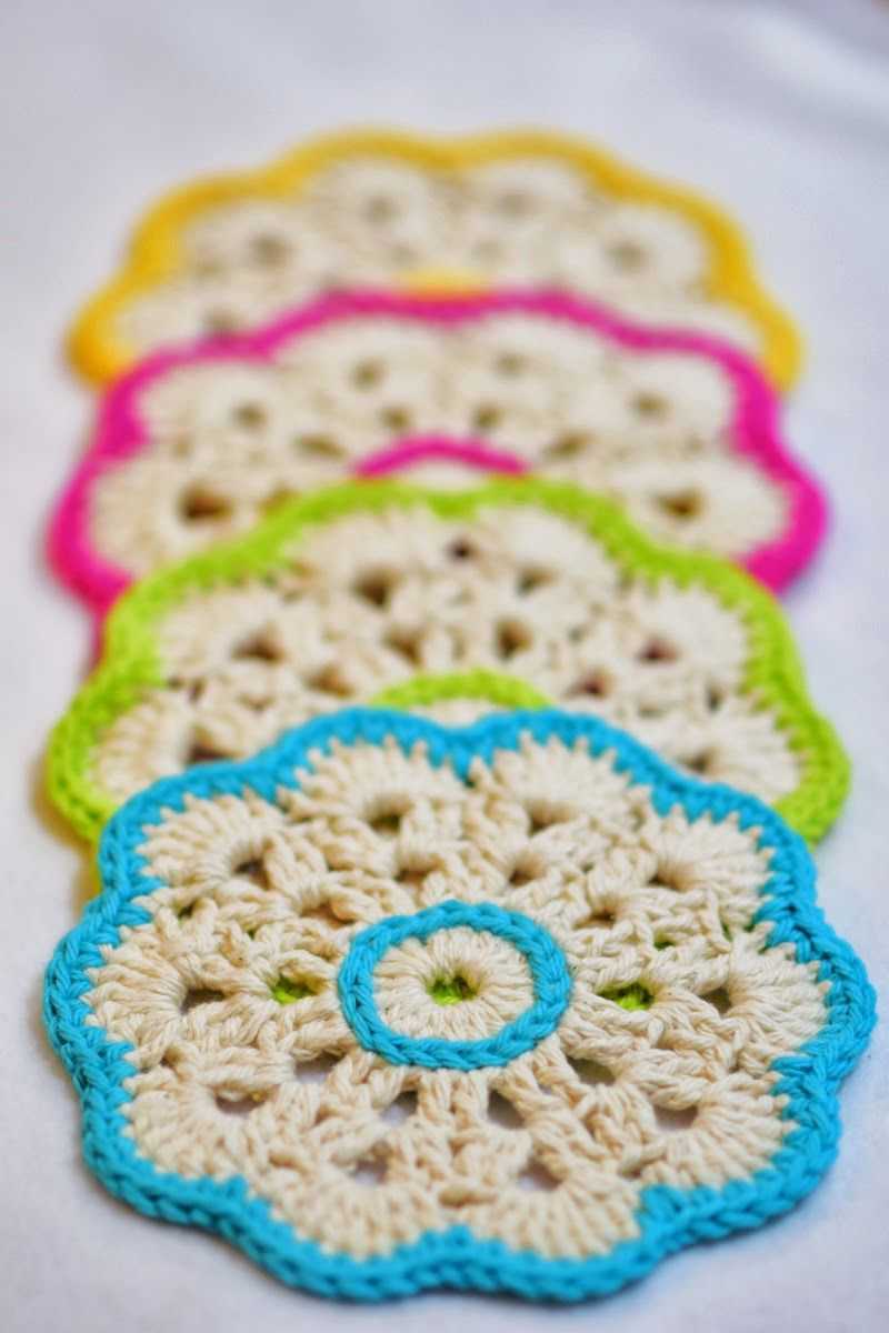 Pin By Ale Gorri On Everything Yarn Pinterest Crochet Coaster Patterns Diagrams A Few Pretty Snowflakes Potholders Doilies Squares Motif Flowers