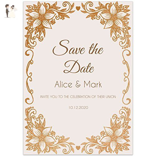 gold leaf save the date wedding invitations bridal shower invitations amazon partner