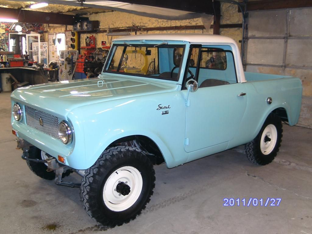Baby blue 62 international scout