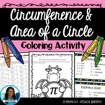 In This Activity Students Will Determine The Area And Circumference