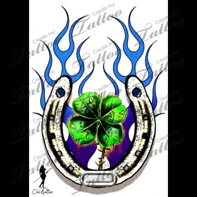 Marketplace Tattoo Lucky Charm 7773 Createmytattoo Clover