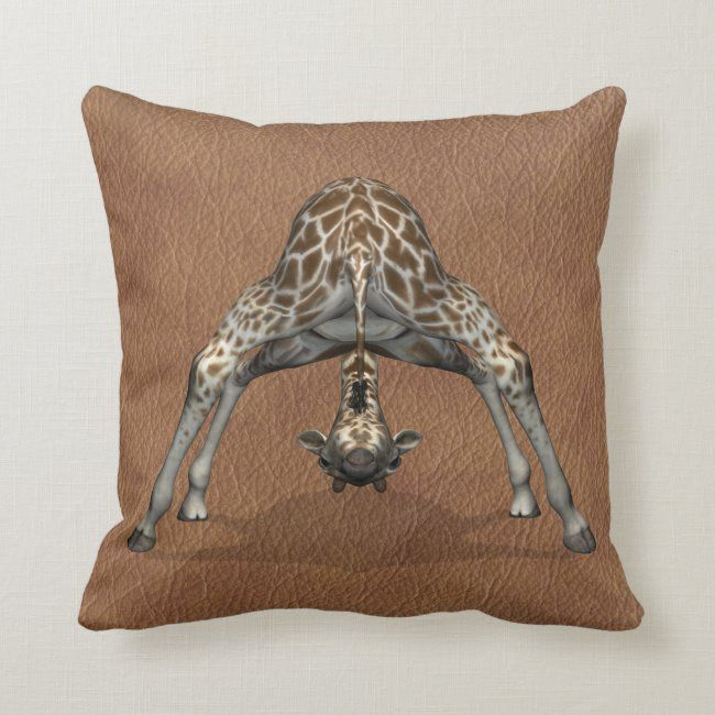 Flexible Giraffe Throw Pillow #comical #giraffe #very #funny #animal #ThrowPillow #pillows #homedecor #homedecorating #decorating #livingspace #home #livingroom #bedroom