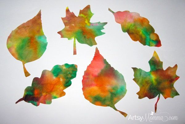 Easy Fall Leaf Projects For Toddlers And Preschoolers #leafcrafts