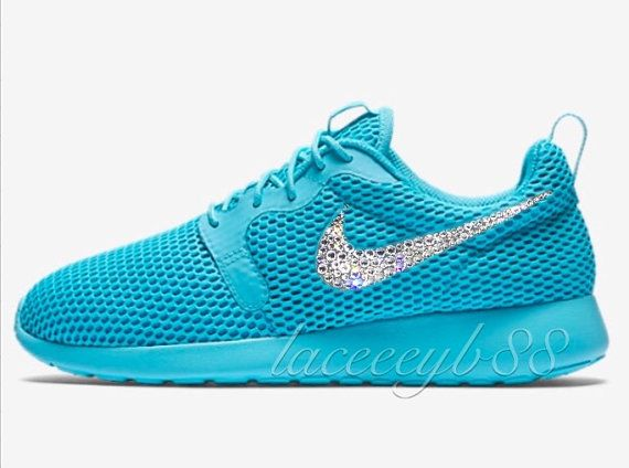 LAST PAIR!!Bling Swarovski Nike Roshe One Hyper Breathe-Gamma Blue ... 2a8dbfc9da
