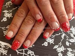 Christmas nails pinterest eye candy nails training acrylic nails with devils red gelux gel polish gelish silver glitter and swarovski crystals by joanne duckmanton on 15 june prinsesfo Choice Image