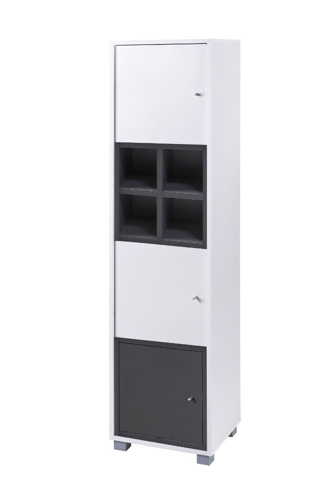 Schildmeyer Nevada Hochschrank H40 Weiss Basaltgrau Jetzt Bestellen Unter Https Moebel Ladendirekt De Bad Badmoebel Badezimmersch