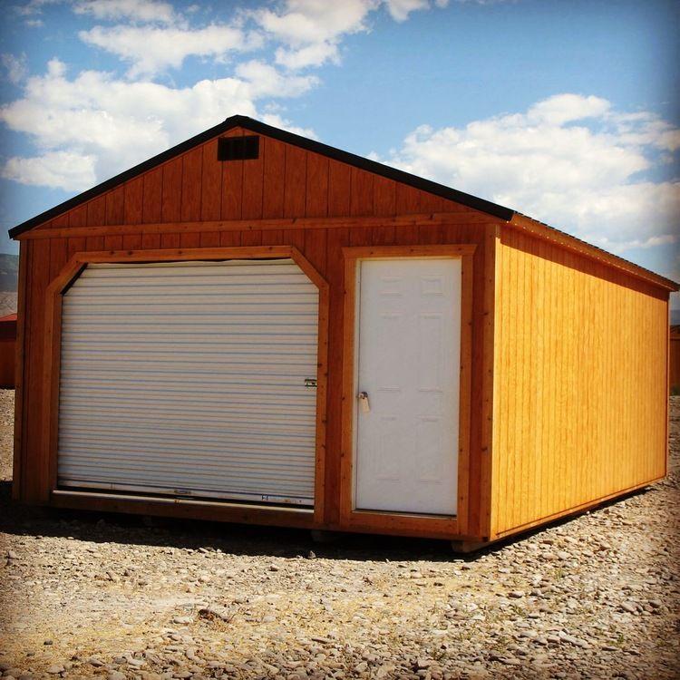 Residential Garage | Portable buildings, Wood building ...
