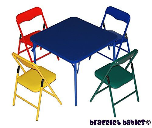 Children S Folding Table Folding Chairs Furniture Set Bracelet Babies C Http Www Amazon Com Dp B Childrens Folding Table Folding Chair Kids Table And Chairs