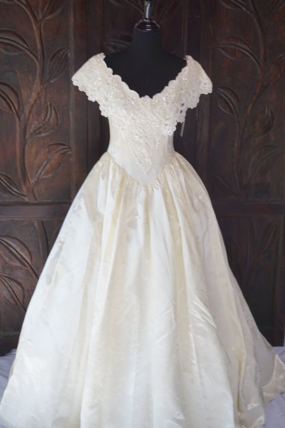 New Vintage Satin Southern Belle Wedding Gown Size 8 Never Worn ...