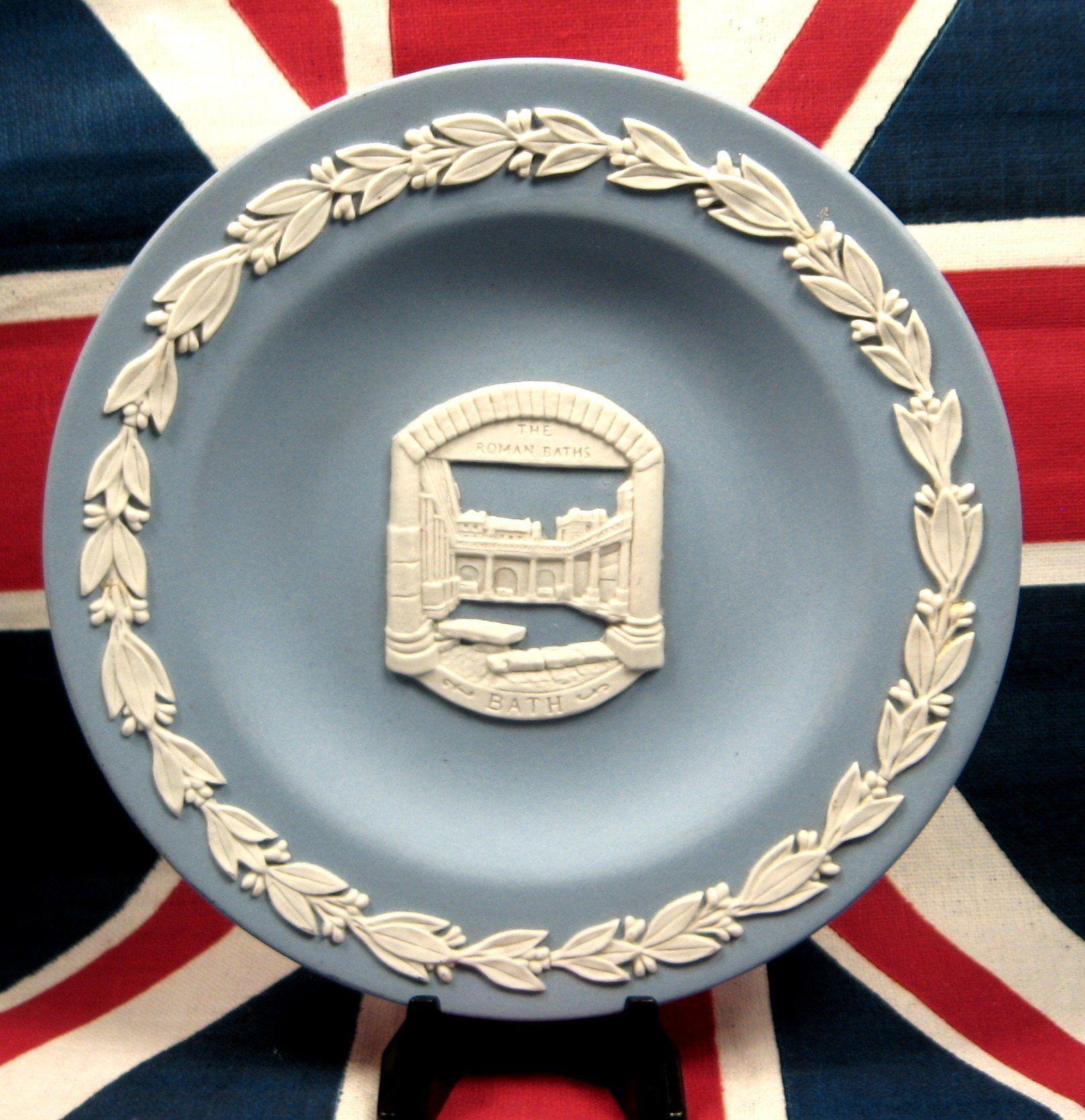 Wedgwood Round Dish Blue Jasper Romans Baths Bath England Small ...