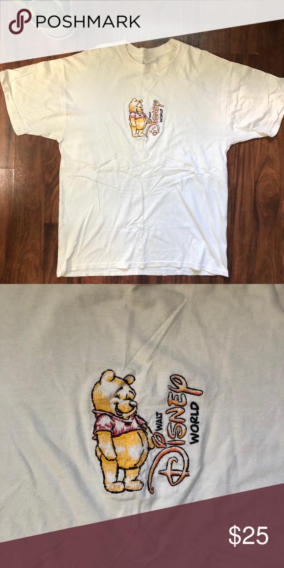 Vintage Disney Embroidered Pooh Shirt Vintage Disney Embroidered Shirt Disney Tops